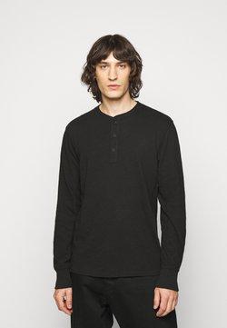 rag & bone - CLASSIC HENLEY - Pitkähihainen paita - black