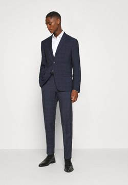 Calvin Klein Tailored - TELA CHECK NATURAL SUIT - Puku - blue