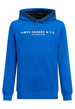 WE Fashion - JONGENS MET TEKST- EN TAPEDETAIL - Kapuzenpullover - cobalt blue