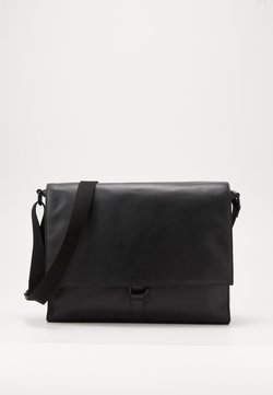 Zign - UNISEX LEATHER - Sac bandoulière - black