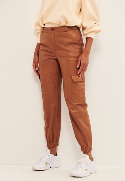 Part Two - Pantalon en cuir - hazel brown