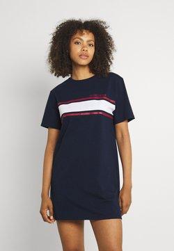 Hollister Co. - CHEST STRIPE DRESS - Jerseykleid - navy