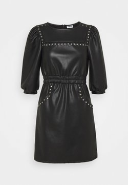 Noisy May Petite - NMHILL SLEEVE STUD DRESS  - Robe d'été - black
