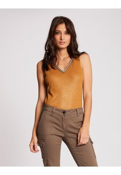 Morgan - WITH LARGE STRAPS AND STRIP - Top - ochre