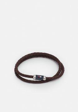 Tommy Hilfiger - DOUBLE WRAP BRACELET  - Bracelet - brown