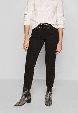 Lost Ink Petite - MOM ELDERBERRY - Straight leg jeans - coal