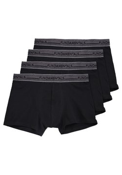 WE Fashion - WE FASHION HERREN-BOXERSHORTS, 4-ER-PACK - Shorty - black