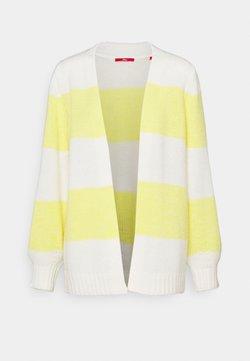 s.Oliver - Cardigan - yellow/white