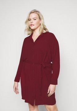 Vero Moda Curve - VMSAGA DRESS  - Blusenkleid - cabernet