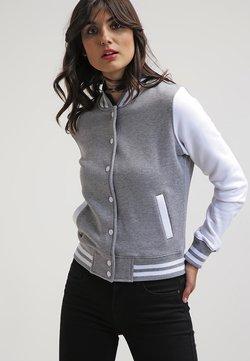Urban Classics - LADIES 2-TONE COLLEGE SWEATJACKET - Leichte Jacke - grey/white