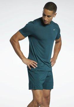 Reebok - RUN ESSENTIALS SPEEDWICK T-SHIRT - Camiseta estampada - green