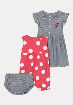 Carter's - DOT SET - Jumpsuit - pink/dark blue