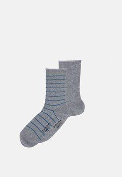 FALKE - HAPPY 2 PACK - Socken - light grey melange