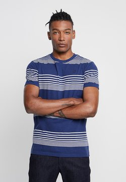 G-Star - LOAM STRAIGHT - T-Shirt print - imperial blue/milk stripe