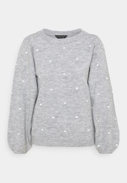 Dorothy Perkins - ALL OVER BOBBLE CREW NECK - Strickpullover - light grey