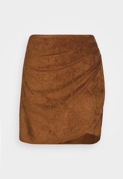 Abercrombie & Fitch - RUCHED MINI  - A-line skirt - brown