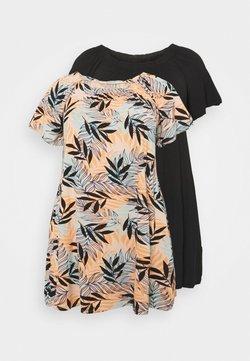 CAPSULE by Simply Be - BARDOT DRESSES 2 PACK - Trikoomekko - orange/black