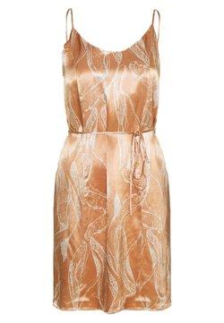 Selected Femme Petite - SLFFRANKA TUNNI SHORT DRESS - Vestido informal - caramel