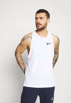 Nike Performance - TANK DRY - Linne - white/black