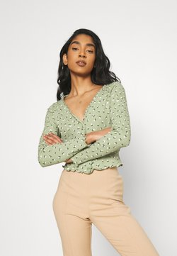 Monki - SANCY - Strickjacke - light green