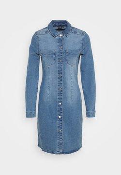Vero Moda - VMGRACE SLIM BUTTON - Spijkerjurk - light blue denim