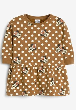 Next - MINNIE MOUSE SWEAT DRESS - Freizeitkleid - brown