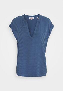s.Oliver - KURZARM - T-Shirt print - dark blue