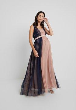 Anaya with love Maternity - CONRAST GATHERED MAXI DRESS WITH WAISTBAND - Festklänning - navy/pearl blush