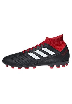 adidas Performance - PREDATOR - Botas de fútbol con tacos - black/white/red