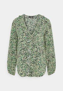 Wallis - DITSY RUFFLE BLOUSON SLEEVE - Blouse - green