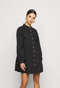 Missguided Petite - TIE CUFF SHIRT DRESS  - Blousejurk - black