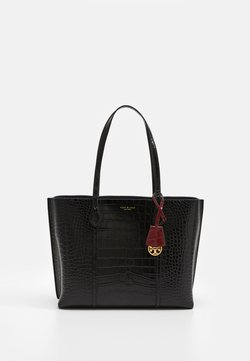 Tory Burch - PERRY EMBOSSED TRIPLE COMPARTMENT - Shopping Bag - black