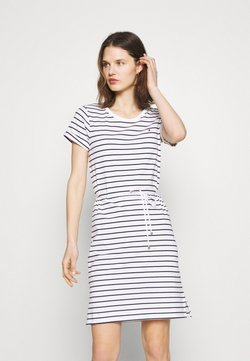 Tommy Hilfiger - COOL SHIFT SHORT DRESS  - Jerseykleid - white/sky