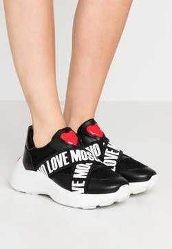 Love Moschino - SUPER HEART - Instappers - nero