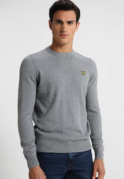 Lyle & Scott - Crew Neck Jumper - Strikkegenser - mid grey marl