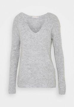 Pieces - PCBABETT NECK  - Pullover - light grey melange