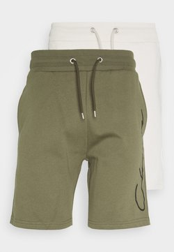 CLOSURE London - SCRIPT 2 PACK  - Pantalones deportivos - khaki/stone