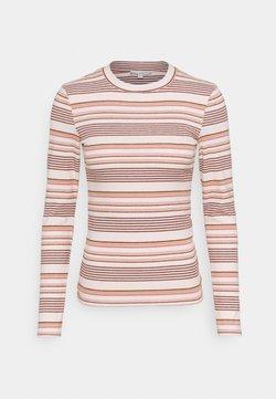TOM TAILOR DENIM - STRIPED COSY LONGLSEEVE - Langarmshirt - creme/rose/beige