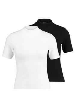 Even&Odd Petite - 2ER PACK - T-shirt print - white/black