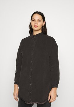Missguided Plus - OVERSIZED - Hemdbluse - black
