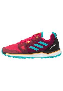 adidas Performance - TERREX AGRAVIC - Chaussures de running - power pink/hi-res aqua/solar gold