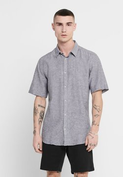 Only & Sons - ONSCAIDEN SS LINEN SHIRT NOOS - Camicia - dark navy
