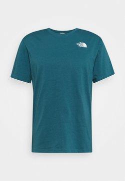 The North Face - REDBOX TEE   - T-Shirt print - teal