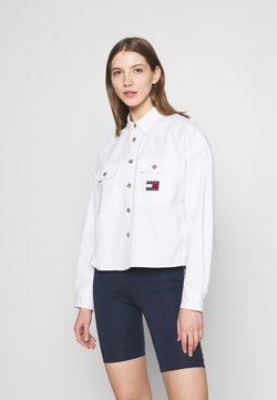 Tommy Jeans - CROPPED UTILITY - Overhemdblouse - white