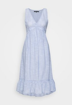ONLY - ONLMARGAERY LIFE STRIPE  - Freizeitkleid - light blue denim/cloud dancer