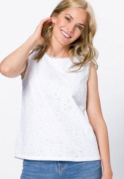 zero - MIT LOCHSPITZE - Bluse - white