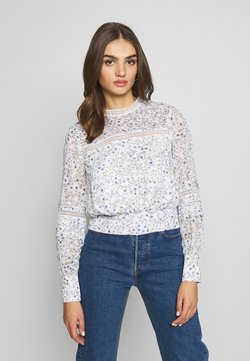 Forever New - PLEAT DETAIL TOP - Bluser - climbing speckled ditsy