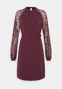 Vero Moda Tall - VMALBERTA SHORT DRESS  - Freizeitkleid - winetasting