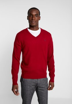 GANT - EXTRAFINE VNECK - Strickpullover - red