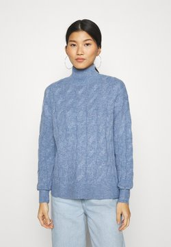 GAP - JAC CABLE SLOUCHY - Pullover - denim blue heather